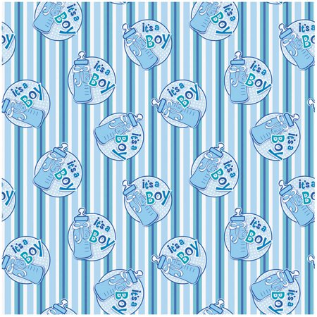 It's a Boy Baby Shower Wrapping Paper, 5 x 2.5 ft, Blue, 1ct - Baby Shower Wrapping Paper