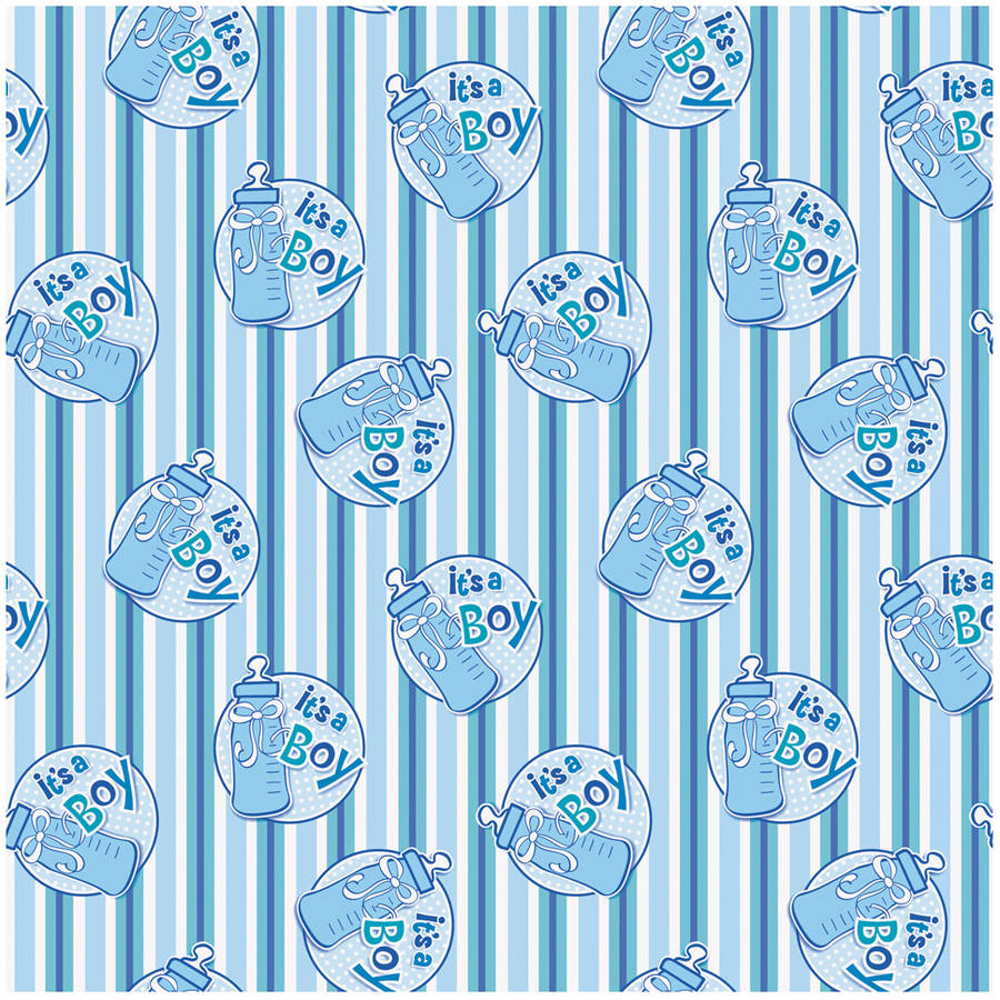 It's a Boy Baby Shower Wrapping Paper, 5 x 2.5 ft, Blue, 1ct