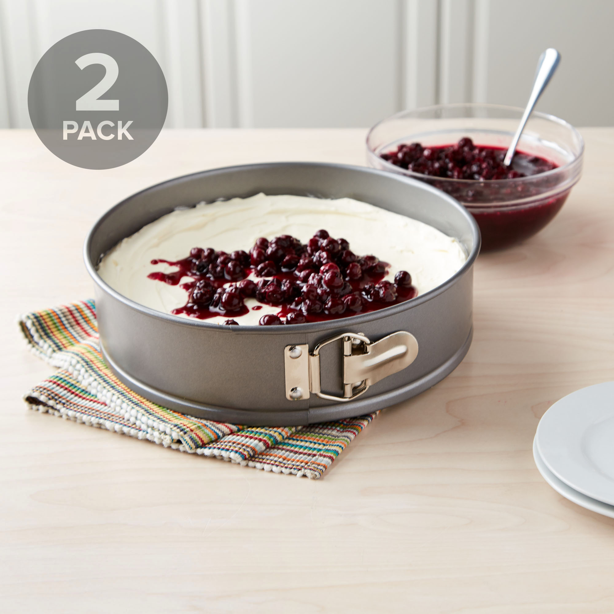 "2-Set Tasty 10"" Springform and Cheesecake Pan Non-Stick"