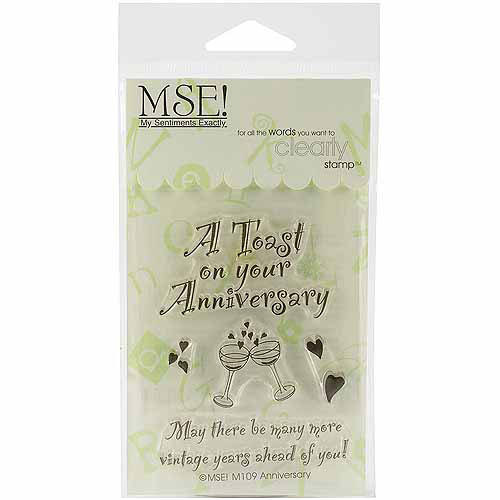 "My Sentiments Exactly Clear Stamps, 3"" x 4"" Sheet, Anniversary"