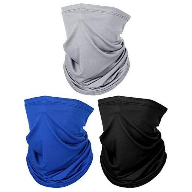 Boao - 3 Pieces Men's Neck Gaiter Summer Winter Sunscreen Neck Gaiter  Lightweight Face Mask for Outdoor Activities (Black, Grey, Dark Blue) -  Walmart.com - Walmart.com