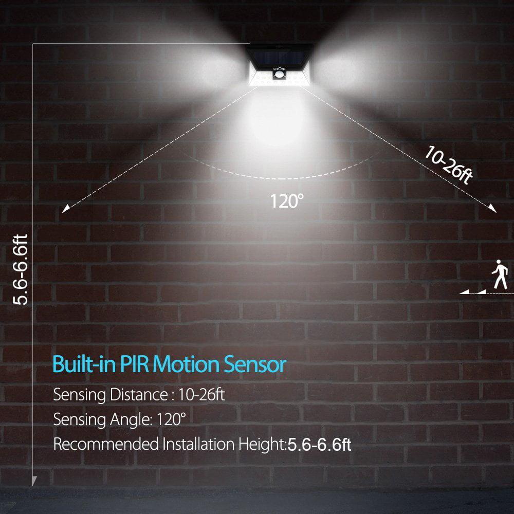 Litom 24 led outdoor motion sensor solar lights wide angle design litom 24 led outdoor motion sensor solar lights wide angle design with 3 leds both side for driveway 1 pack walmart aloadofball Images