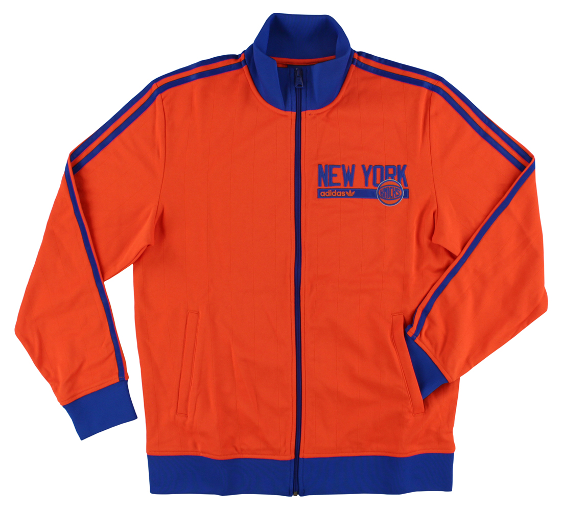 Adidas Mens New York Knicks Track Jacket Blue