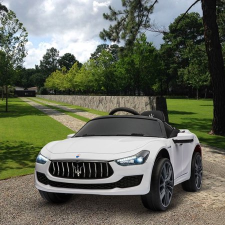 Kids Ride On Car 12V Rechargeable Toy Vehicle w/ MP3 Remote White Maserati License](Kids Toy Cars)