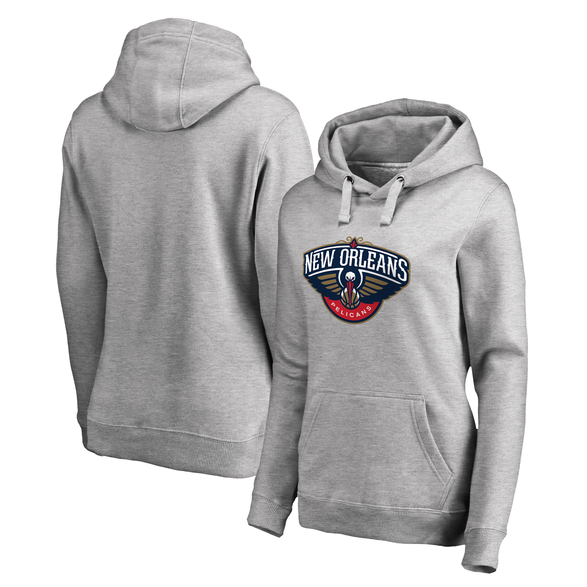 New Orleans Pelicans Fanatics Branded Women's Primary Logo Pullover Hoodie - Ash