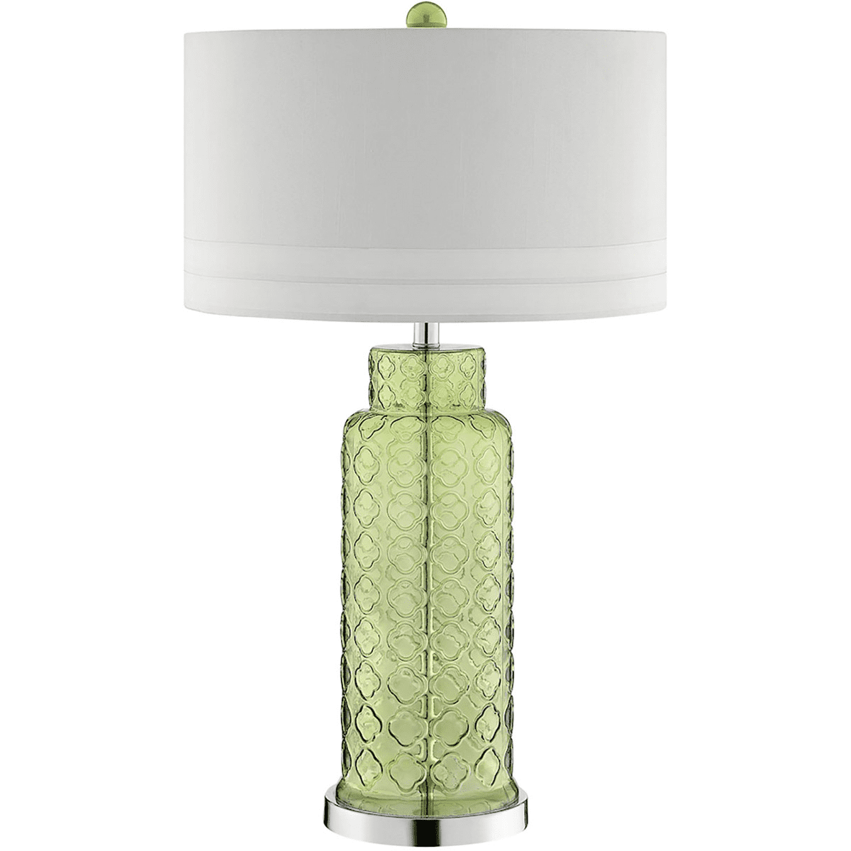 Table lamps 1 light fixtures with green finish glass steel material a 15 bulb 18 inch wide 100 watts