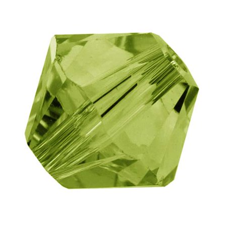 Olivine Austrian Crystal - Swarovski Crystal, #5328 Bicone Beads 4mm, 24 Pieces, Olivine