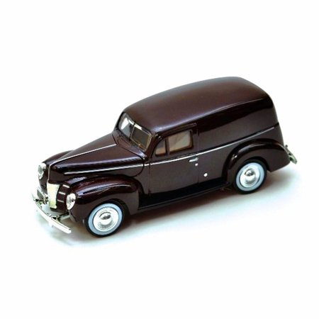 1940 Ford Sedan Delivery, Burgundy - Motormax 73250 - 1/24 Scale Diecast Model - Ford Delivery Car Bank