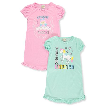 Sweet N Sassy Girls' 2-Pack Nightgowns](Girls Satin Nightgowns)