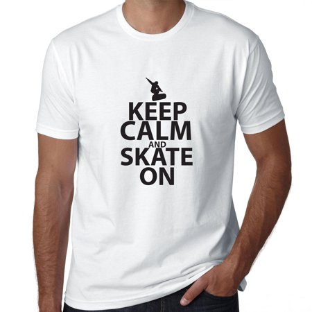 Krooked Skateboard T-shirts (Keep Calm And Skate On Skateboard Graphic Men's T-Shirt)