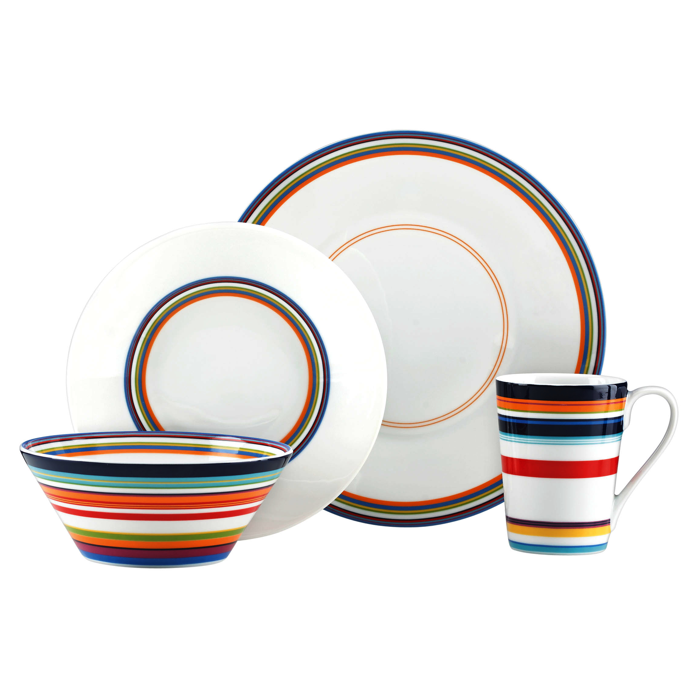 DKNY Urban Essentials by Lenox White 4 Piece Dinnerware Place Setting by Dkny