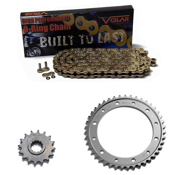 1990-1997 Honda Interceptor 750 VF750F O-Ring Chain and Sprocket Kit - Gold