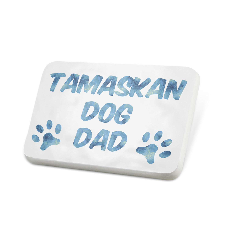 Porcelein Pin Dog & Cat Dad Tamaskan Dog Lapel Badge – NEONBLOND