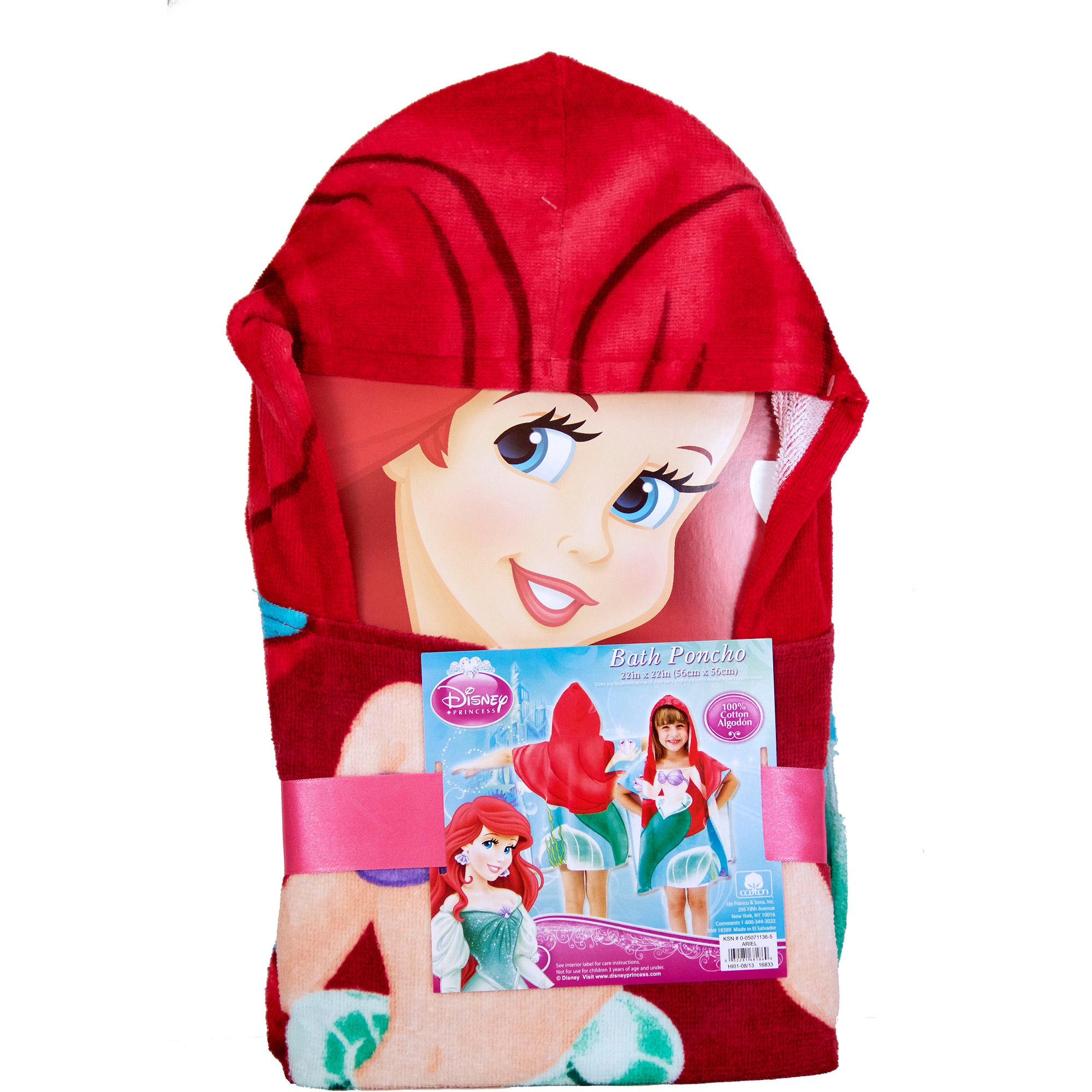 Disney Ariel Hooded Towel