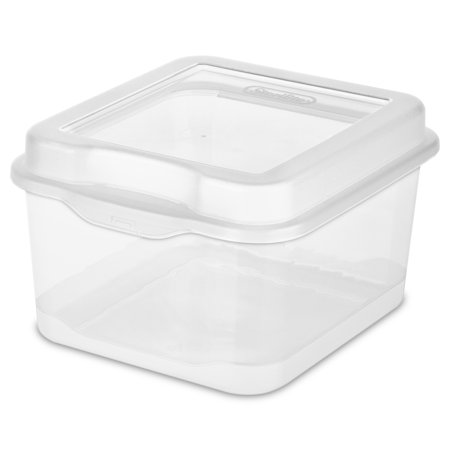 Sterilite Fliptop Box, Clear (Set of 12) - Sterlite Containers
