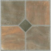 Achim Tivoli Rustic Slate 12x12 Self Adhesive Vinyl Floor Tile - 45 Tiles/45 sq. Ft