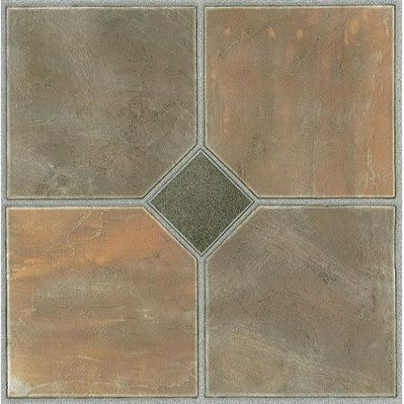 Achim Tivoli Rustic Slate 12x12 Self Adhesive Vinyl Floor Tile 45