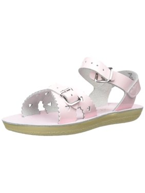 salt water sandals by hoy shoe girls' sun-san sweetheart flat sandal, shiny pink, 1 m us little kid