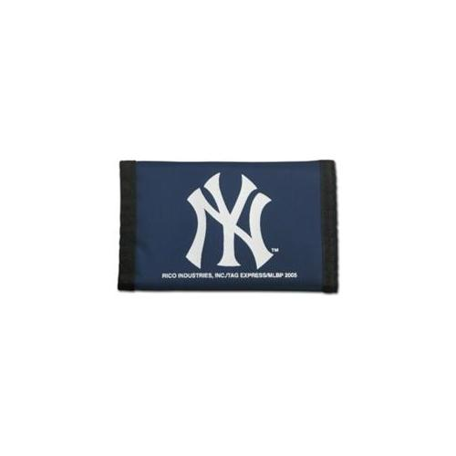 Caseys Distributing 2499499519 New York Yankees Nylon Trifold Wallet