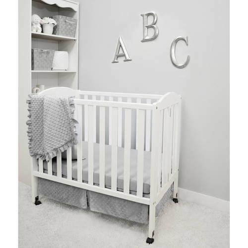 "24/"" x 38/"" American Baby Soft Minky Dot Portable Mini-Crib Bumper for Boys Girls"