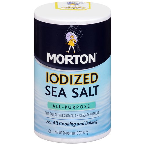 Morton Iodized Sea Salt, 26 oz