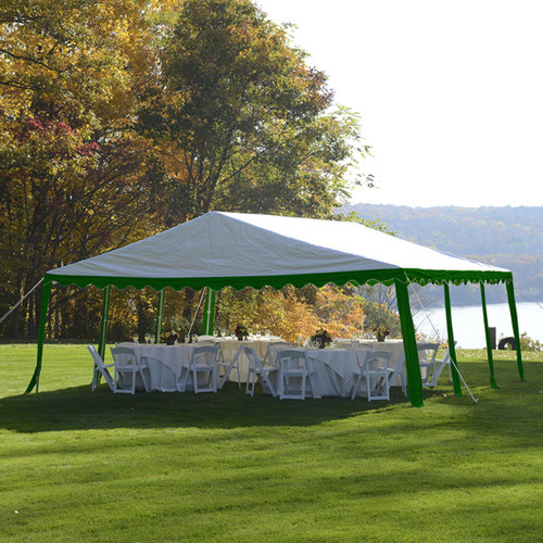 Party Tent, 20' x 20'/6m x 6m, Blue/White