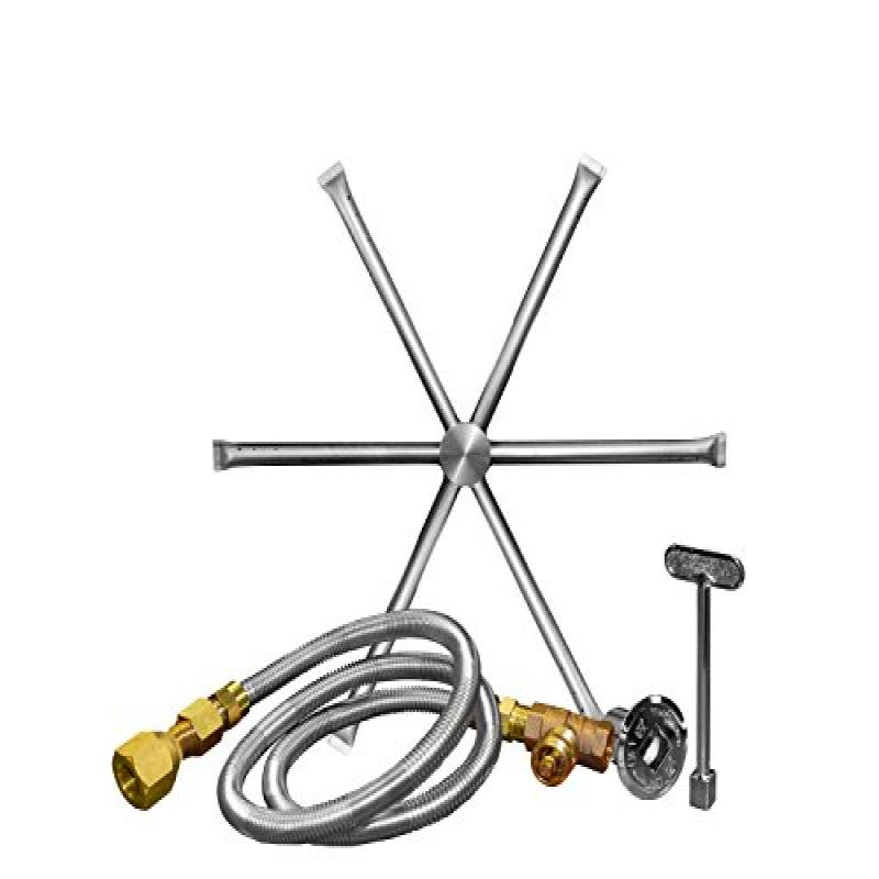 Firegear Outdoors Stainless Steel Fire Pit Burner Kit - Burning Spur (22-Inch)