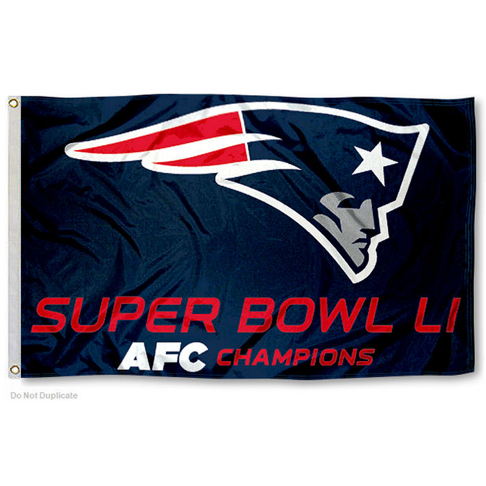 New England Patriots Super Bowl LI 51 AFC Champs Flag