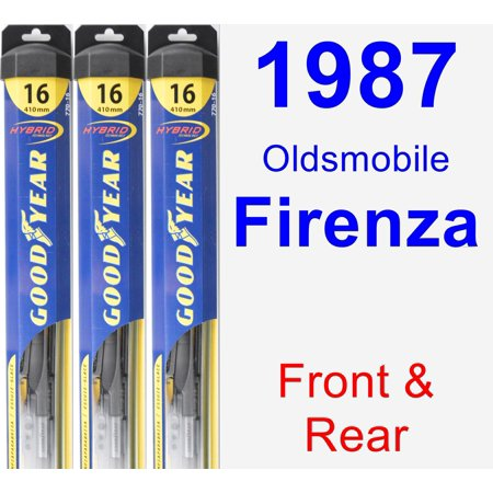 1987 Oldsmobile Firenza Wiper Blade Set/Kit (Front & Rear) (3 Blades) - Hybrid ()