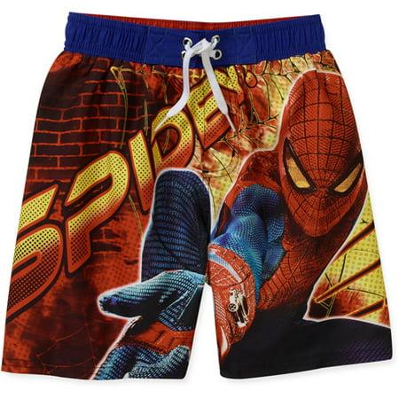 b83a717eeaef5 Online - Marvel Spider-man Swim Shorts Trunks Boy Size 6/7 - Walmart.com