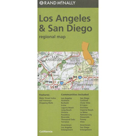 Rand mcnally los angeles & san diego, california regional map - folded map: 9780528007583