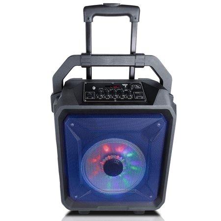 Ridgeway Rocket807 Pro 8 inch Portable BT PA Speaker Built-in Battery Trolley Party Karaoke Outdoor Speaker LED LIGHTS USB SD FM
