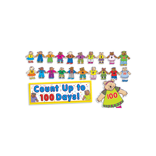 Teachers Friend 100th Day Counting Bears Bulletin Board Cut Out