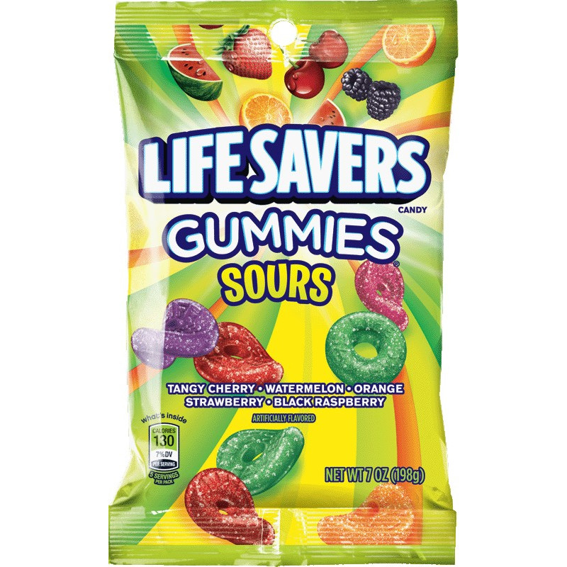 Life Savers, Sours Gummies Candy, 7 Oz