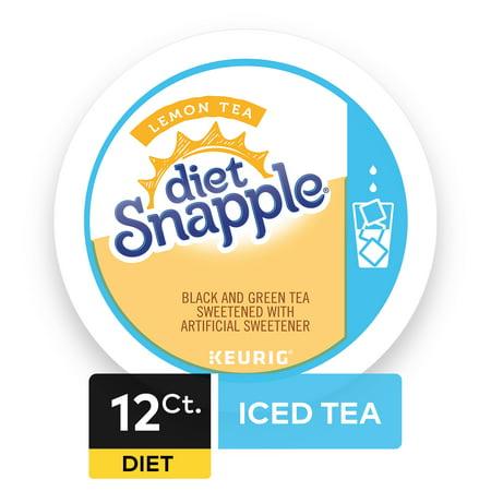 Diet Snapple Lemon Iced Tea, Keurig K-Cup Tea Pods, 12