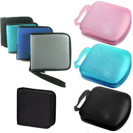 2 Pc CD Case Discs Portable DVD Wallet Holder Bag Album Organizer Media (Cd Storage Wallets)