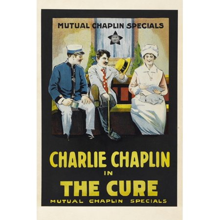 The Cure Movie Charlie Chaplin Edna Purviance Poster Print Poster Wall -