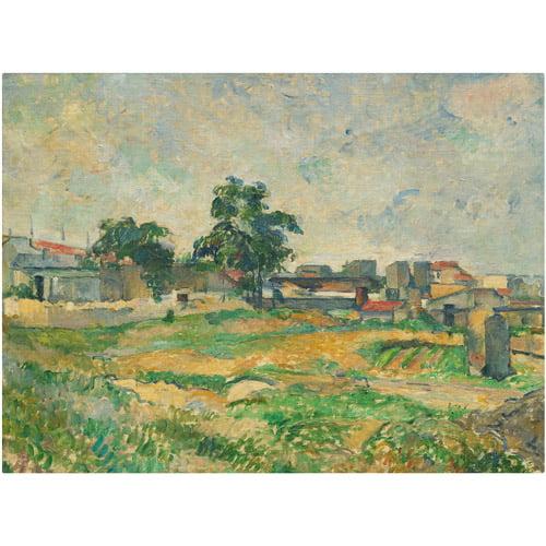 """Trademark Fine Art """"Landscape Near Paris"""" 1876 Canvas Art by Paul Cezanne"""