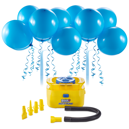 Bunch O Balloons Portable Party Balloon Electric Air Pump Starter Pack, Includes 16ct 11in Self-Sealing Blue Latex Balloons](Party Balloon Pump)