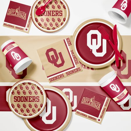 University of Oklahoma Game Day Party Supplies Kit - University Of Alabama Party Supplies