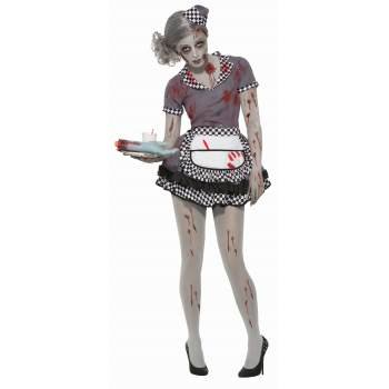 CO-ZOMBIE WAITRESS-STD - Waitress Costumes