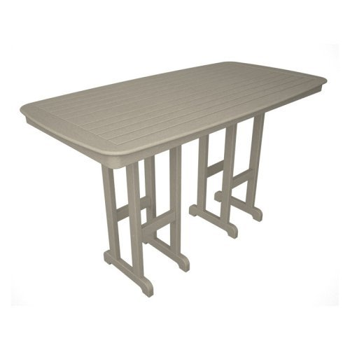 POLYWOOD® Nautical 37 x 72 in. Bar Table
