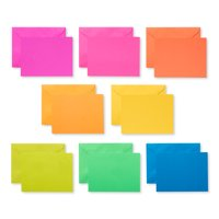 American Greetings Neon Rainbow Blank Note Cards, 100-Count, Envelopes Included