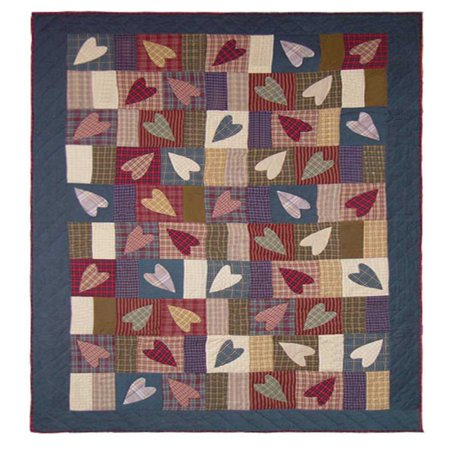 "Image of Patch Magic Country Hearts Quilt Queen 85""X 95"""