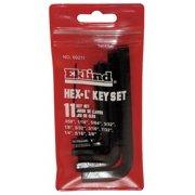 Eklind Short L-Shaped SAE Black Oxide Hex Key Set, Number of Pieces: 11 69211