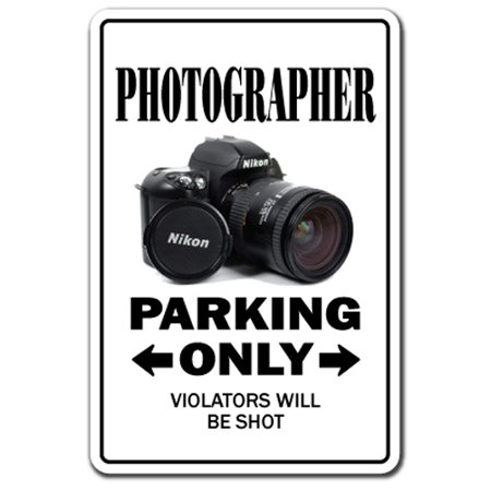 """PHOTOGRAPHER Decal parking photography camera lens pictures photo movie film 