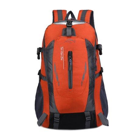 Sirius Survival 40L Waterproof Hiking Backpack - Travel Daypack Great for Hiking, Trail Walking, Climbing, Camping Exploring - Orange