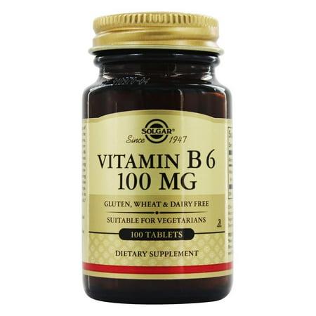 Solgar - Vitamine B6 100 mg. - 100 comprimés