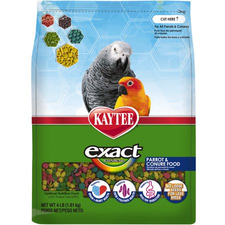 Kaytee Exact Rainbow Parrot and Conure Food,