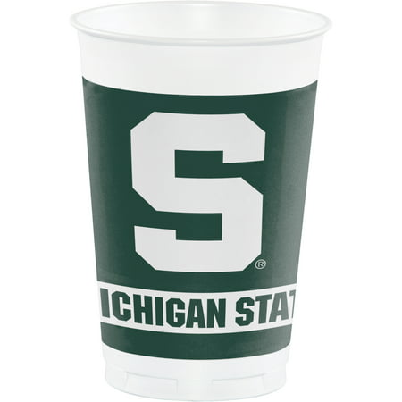 Arizona State University Party Supplies (Creative Converting Michigan State University Plastic Cups, 8)